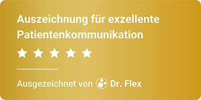 Dr. Flex - Web-Siegel - Vertrauen in Ihre Praxis