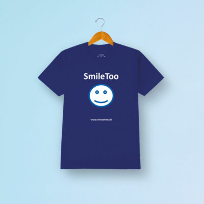Fanartikel Merchandise Orthodentix Tshirt Smiletoo Blau