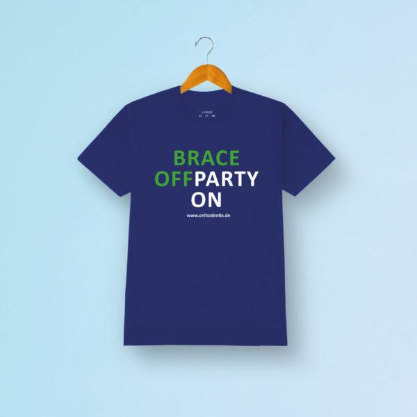 Brace Off Tshirt Blau