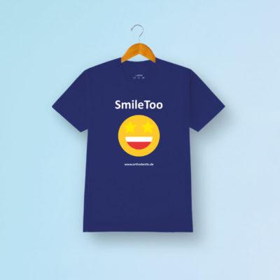 Smiletoo Tshirt Blau Orthodontix Kfo
